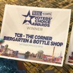 "TCB-THE CORNER BIERGARTEN VOTED ""BEST NEIGHBORHOOD BAR"" IN WRAL'S VOTERS' CHOICE AWARDS"