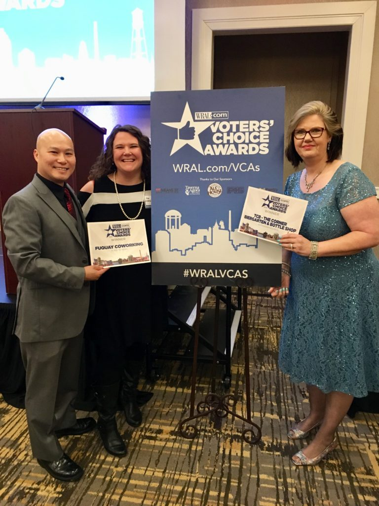 "FUQUAY COWORKING VOTED ""BEST PLACE TO WORK"" IN WRAL'S VOTERS' CHOICE AWARDS"