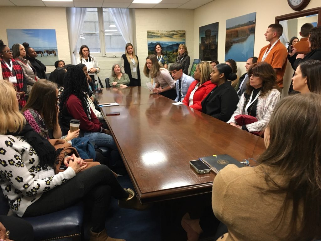Members of Fuquay Coworking and the Fuquay-Varina Coalition Join a North Carolina Delegation to Speak with Representatives in Washington, D.C. During the 2020 CADCA National Convention.