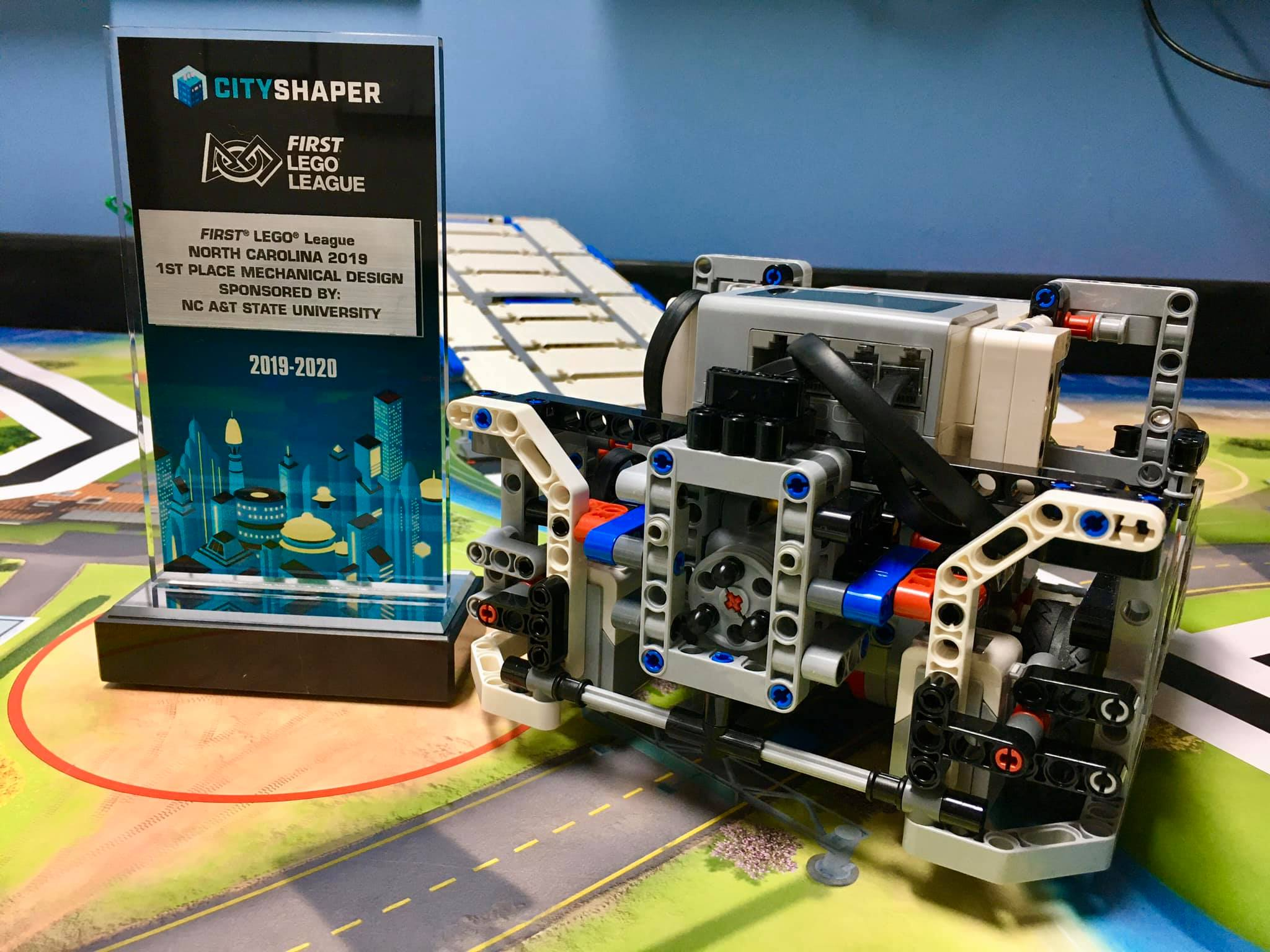 Fuquay-Varina LEGO Robotics Club Earns First Place Mechanical Design Award at 2019 LEGO FIRST LEAGUE Competition