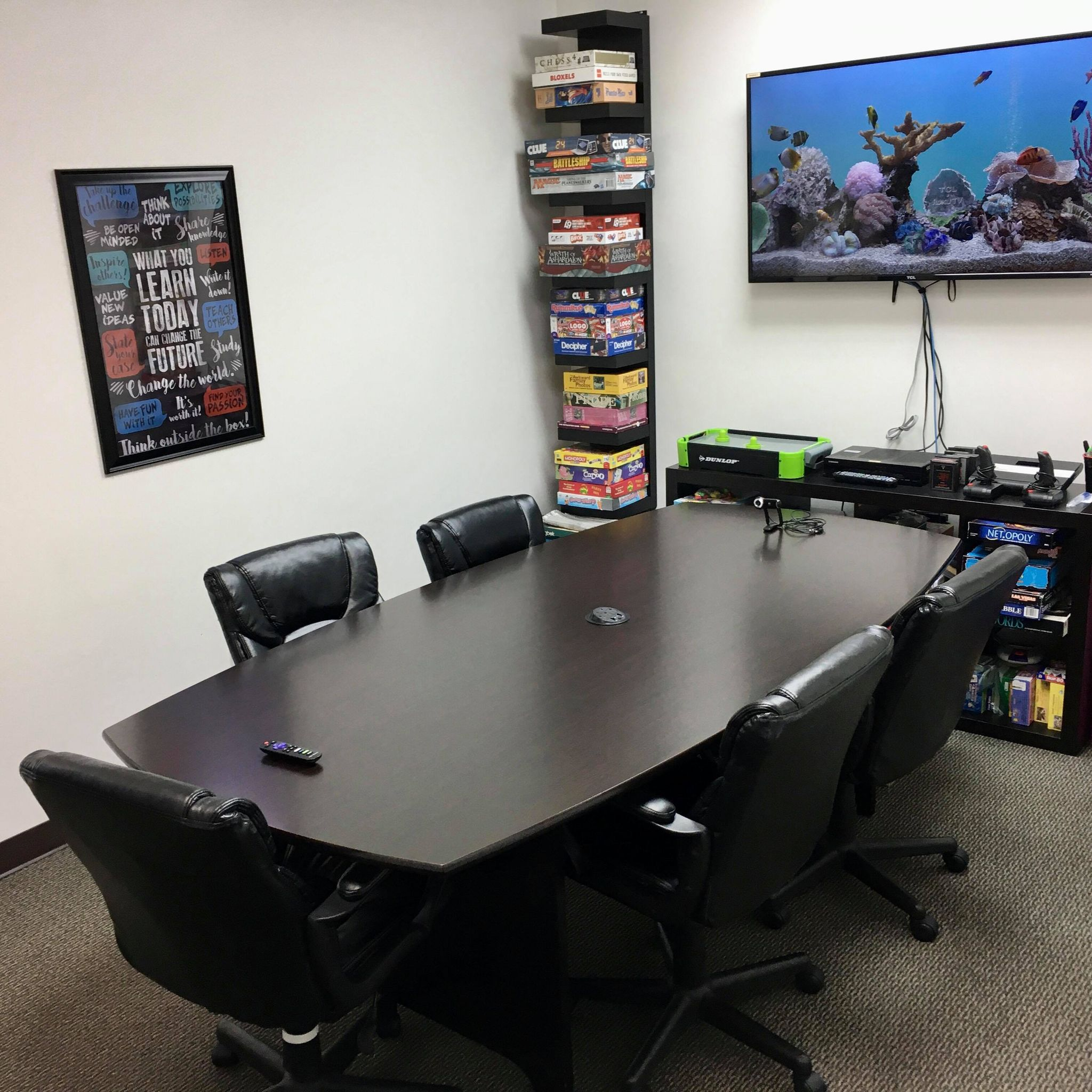 Fuquay Coworking Game Lounge Conference Room