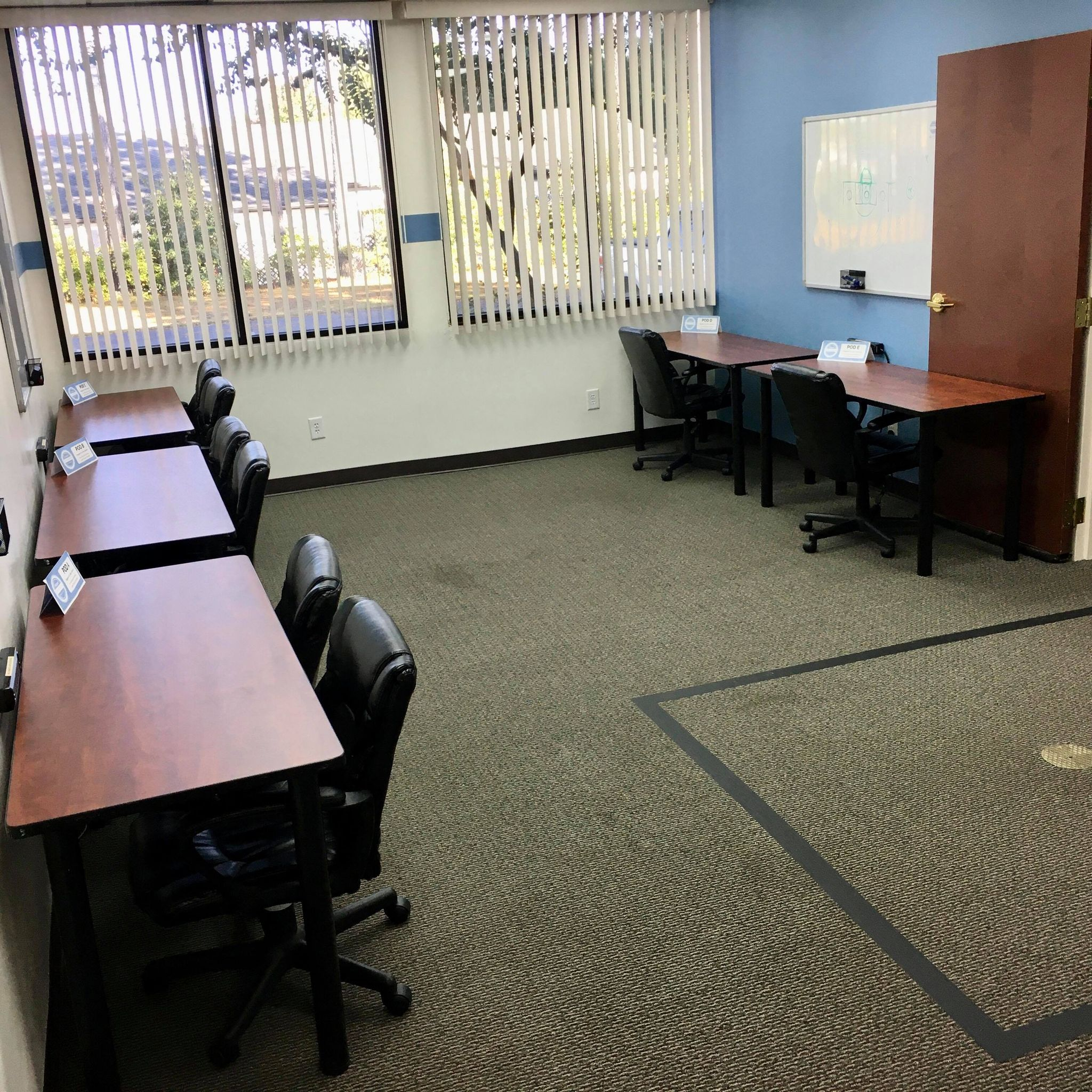 Fuquay Coworking Shared Desk Area
