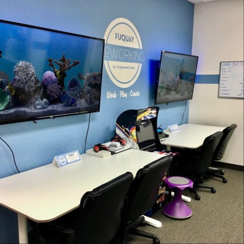 Fuquay Coworking Shared Desk Areas